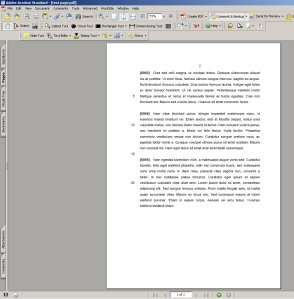Test Page in Acrobat
